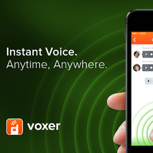 A walkie-talkie app that include both a live PTT (push to talk) and a voice.